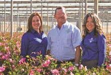 Delray Plants' Cerie Velez, Randy Gilde and Natalie DiScascio
