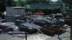 These stolen carts were recently found at a Texas scrap metal yard that was busted for cart theft.