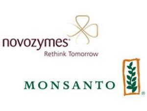 Monsanto and Novozymes logos