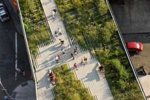 The High Line is a reclaimed elevated railway that was turned into a park in Manhattan.