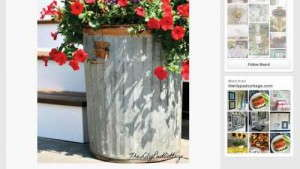 Trash can container on Pinterest