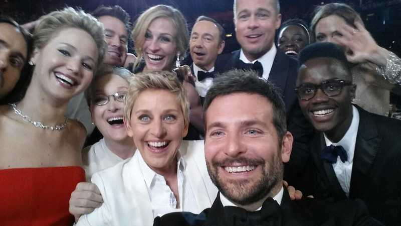 Ellen DeGeneres' celebrity selfie at the Academy Awards garnered 3.1 million retweets. And Academy Award sponsor Samsung was loving it. Photograph: @TheEllenShow/Twitter