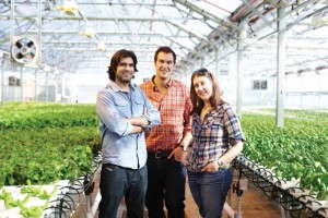 Gotham Greens' Viraj Puri, Eric Haley and Jennifer Nelkin Frymark