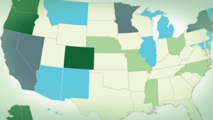 Status of Marijuana US Map May 2015