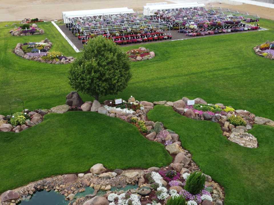 Plantpeddler Trial Gardens 2020 drone view